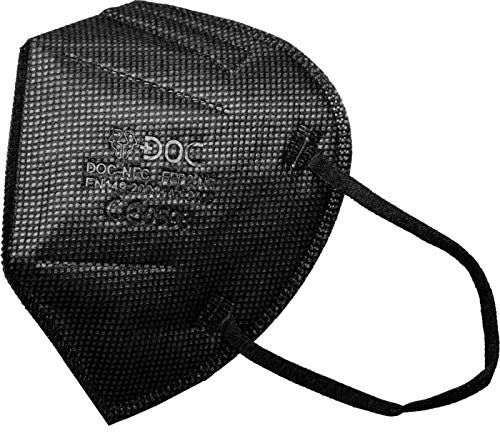 DOC FFP2-Masken schwarz EN 149:2001 + A1:2009 - CE 0598 - 30 Stück - Einzeln verpackt