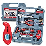Hi-Spec 65 Piece Auto Mechanics Tool Kit Set with Metric & SAE Sockets. Car, Bike & Vehicle DIY Hand Tools for Repair & Maintenance. Complete in a Carry Case