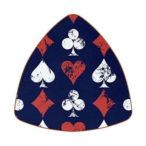 Bennigiry Poker Cards - Juego de 6 posavasos resistentes al calor para taza de café y té, diseño de corazón