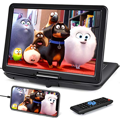 19' Portable DVD Player with 16' Large Screen, HDMI Input, 6 Hours...