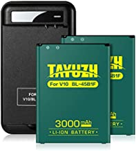 LG V10 Battery, TAYUZH 2X 3000mAh Replacement LG BL-45B1F Li-ion Battery with Spare Charger for LG V10 H900 H901 H960A VS990 LS992