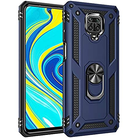 Wellpoint| redmi Note 9 pro| Redmi Note 9 Pro Max| Poco m2 pro| case Back Cover Transparent Covers Cases covar Pouch Rugged Rubber Silicon xiaomi backcover backcase Ring Kick Stand Pouches (Dia-Blue)
