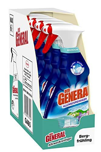 Der General Universal Bergfrühling, Allzweckreiniger Spray für hygienische Sauberkeit 5er Pack (5 x 500 ml)