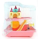 BPS BPS-1340 Cage pour hamster avec maison, tunnel et escalier Couleur aléatoire 28 x 21 x 31 cm