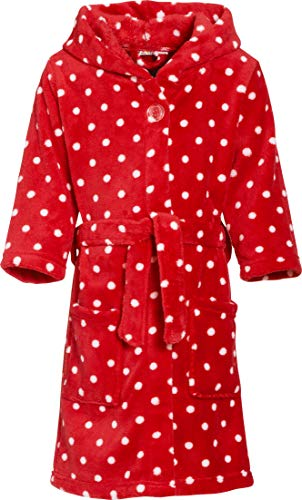 Playshoes Fleece-Bademantel Punkte Albornoz, Original, 146/152 para Niñas