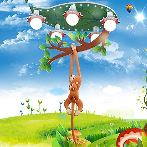 LXSEHN Jungen Mädchen Zimmer Affe Deckenleuchte / Kronleuchter Creative LED Augenschutz Kindergarten Schlafzimmer Cartoon Lampen / Sectional Dimmen