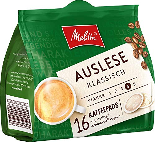 Melittagemahlener Röstkaffee in Kaffeepads, Stärke 3 bis 4, 16 Pads, 112g