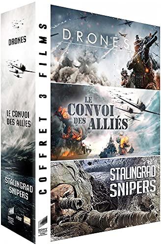 Coffret guerre: Drones + Le convoi des alliés + Stalingrad Snipers [Francia] [DVD]