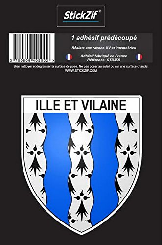 STICKZIF STD35B stickerJordment wapen ille-et vilaine