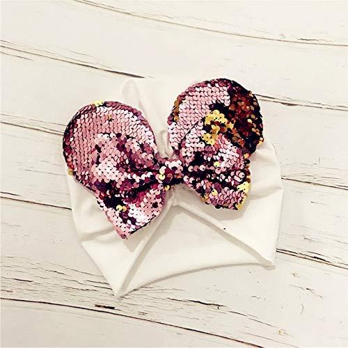 CHZDXGNY Frühling/Sommer Infant Beanie Turban Hut Baby Minnie Mouse Ohren Haarband Mit Pailletten Haarschleifen Fotografie Requisiten Cap One Size 1