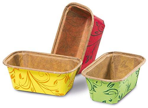 Guardini Monouso, 6 stampi mini-plumcake 8x4cm, carta da forno, Colori assortiti