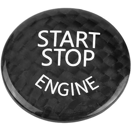 Duokon Auto Start Stop Button Abdeckung Kohlefaser Auto Motor Start Stop Button Schalter Abdeckung Für 1 7 Serie X1 X3 X6 Schwarz Gewerbe Industrie Wissenschaft