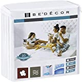 Bedecor Mattress Protector , Waterproof Breathable Noiseless, Soft Cotton Terry Cover Fit Up to 18' - Queen Size