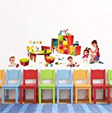 Decal O Decal 'Kids Playing with Mom' Wall Stickers