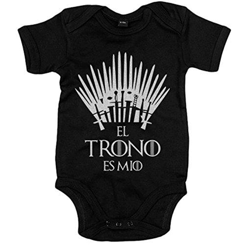 Body bebé El trono es mío - Negro, 6-12 meses