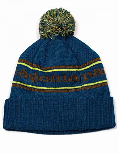 Patagonia Powder Town Beanie Unisex Erwachsene Mütze Einheitsgröße Türkis (Park Stripe Knit/Crater Blue)