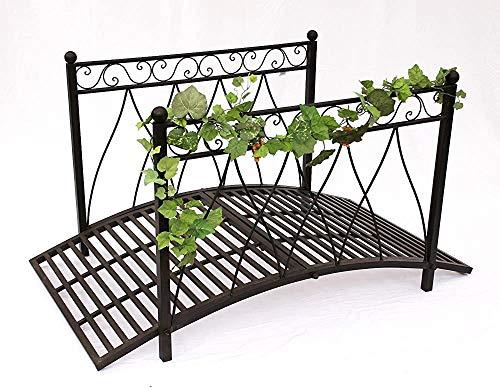 Moderne dekorative neutrale design metall gartenbrücke garten dekoration struktur stabil,Black