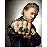 Sons of Anarchy (TV Series 2008 - 2014) 8 inch x 10 inch Photo Charlie Hunnum Punching Pose SO & NS Rings kn