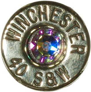 Winchester Aurora Borealis Dobez DesignZ 45 Auto Brass Finish Cuff Link and Tie Pin Set