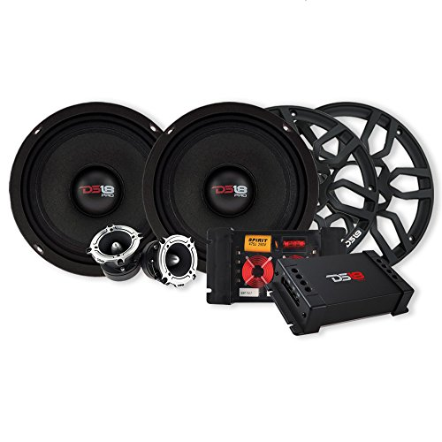 ds18 crossovers DS18 COMBOPRO8 6-Piece Pro Audio Speaker Combo Component Set; Comes with 8