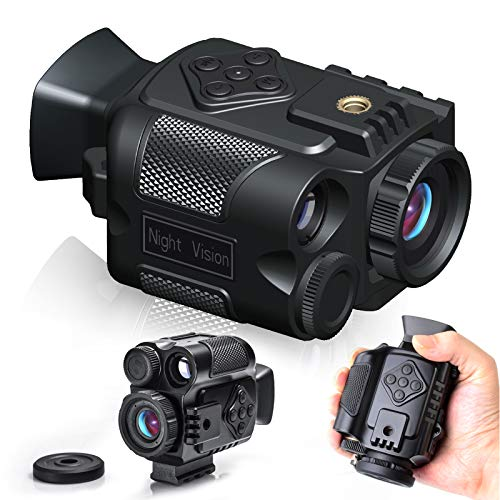 Suncore HD Digital Infrared Night Vision Goggles for 100% Darkness,0.35Ib Monocular Night Vision IR Night Vision Monocular with Photo & Video Recording for Wildlife Observation
