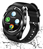 Reloj Inteligente Bluetooth, Smartwatch Pantalla Táctil Impermeable Smart Watch con Camara, SIM/TF Ranura Whatsapp Sports Podómetro Reloj Bracelet para Android Teléfono Hombre Mujer Niño Niña