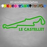 Le Castellet 20x7cm Aufkleber Circuit Paul Ricard F1 GP Frankreich Rennstrecke in 18 Farben