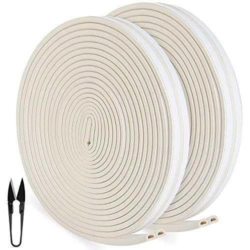 RATEL Tira de Sellado Junta de 30 m(4 x 7.5 m), Goma burlete para Puerta Ventana Antigolpes Resistente al Agua Autoadhesiva con 1 tijera y 1 cinta métrica para bloquear grietas y huecos (blanc