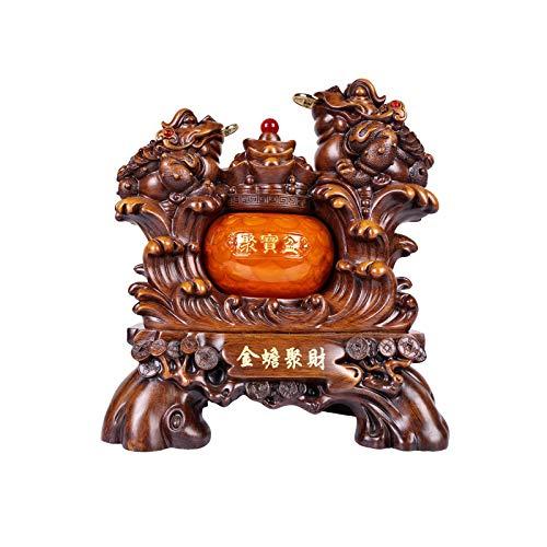 Decoración de Escritorio Dinero Frog Lucky Money Toad Decoraciones Atrayendo Finalth Feng Shui Dinero Frog Estatua Dinero Sapo Estatuilla Inicio Oficina Decoración decoración Escritorio Escultura Manu