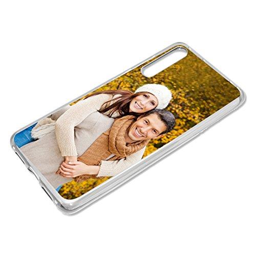 PixiPrints Personalisierte Premium Foto-Handyhülle selbst gestalten mit Foto Bedrucken, Hüllentyp: Hardcase/Transparent, Kompatibel mit Huawei P20