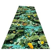 ZEMIN 廊下敷きカーペット ラグ じゅうた 通路 マット 滑り止め 表面 長いです エリア カーペット、 マルチサイズ カスタマイズ可能 (Color : B, Size : 1x1.5m)