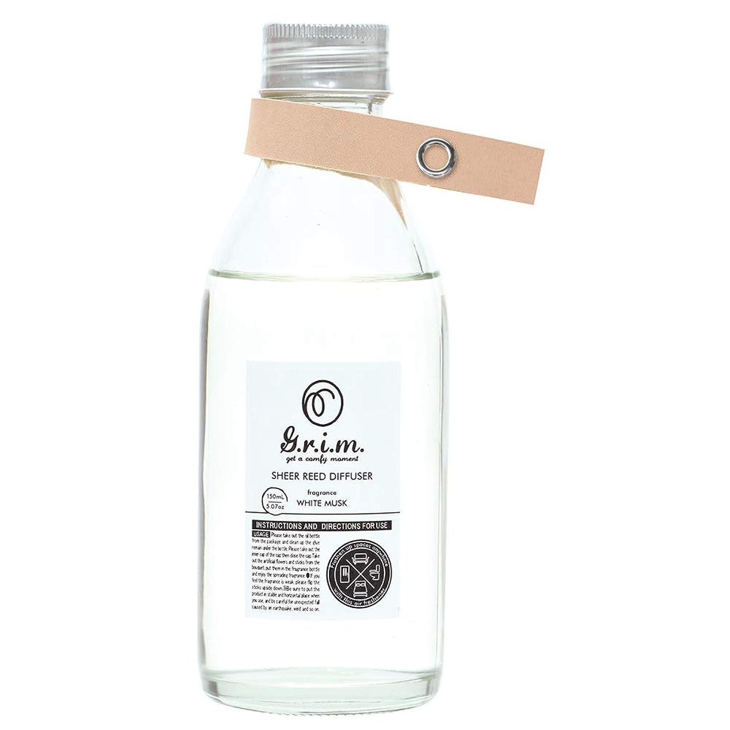 目的嫌い所有権ノルコーポレーション リードディフューザー g.r.i.m 150ml ホワイトムスクの香り OA-GRM-7-1