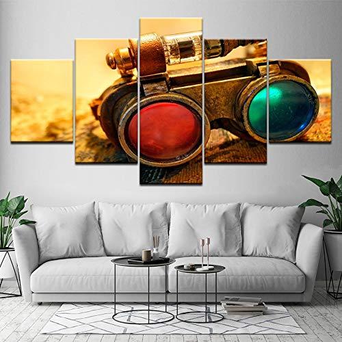 Wall art foto woondecoratie poster 5 stuks telescoop instrument hd print woonkamer schilderen werkt