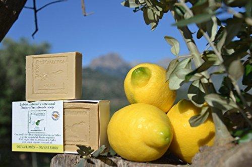 Natürliche Zitrone und Olivenölseife aus Mallorca