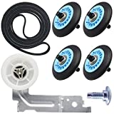 Dryer Repair Kit Compatible with Samsung Include Dryer Roller DC97-16782A Dryer Indler Pulley DC93-00634A Dryer Drum Belt6602-001655 Replace AP5325135 AP4373659 AP6038887 PS4221885 PS4133825