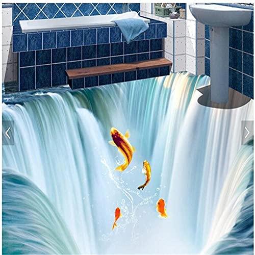 Cuarto De Baño De La Sala De Estar De Acuerdo Con El Ancho De La Longitud De Las Baldosas 3D De Agua De Cascada Personalizadas Tridimensionales-250X175Cm Adhesivos Para Azulejos De Pared, Para Decor