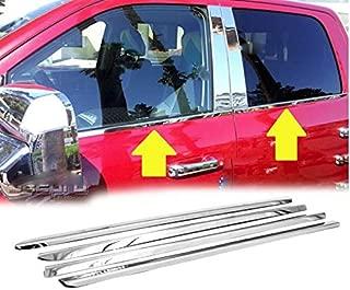 eLoveQ Polished Stainless Steel Chrome Window Sill Trims for 09-18 Dodge Ram 1500, 10-18 Dodge Ram 2500/3500 Crew/Mega Cab