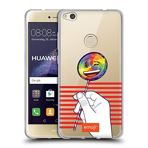 Head Case Designs Oficial Emoji Lollipop Rayas Orgullo Carcasa de Gel de Silicona Compatible con Huawei P8 Lite (2017)