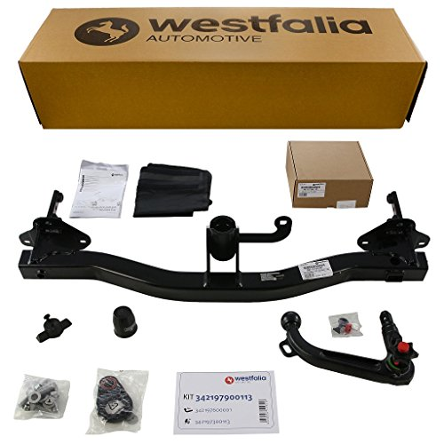 Westfalia abnehmbare Anhängerkupplung - AHK für Jeep Renegade - Im Set mit 13-poligem fahrzeugspezifischem Westfalia Elektrosatz