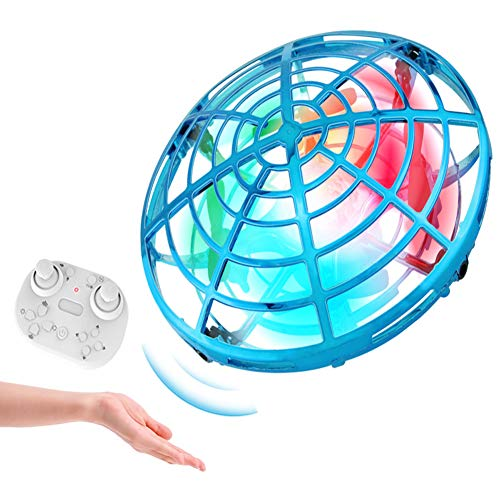 Mini Helicopter UFO RC Drone Infraed Hand Sensing Aircraft Electronic Model Quadcopter flayaball Small drohne Toys for Children,Blue