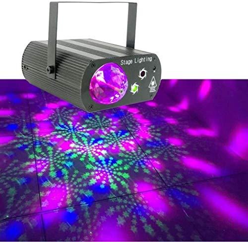JSY Partyleuchten Disco Bühnenlicht, LED-Partei-Licht Strobe-Effekt 2 in 1 Doppel-LED-Stadiums-Licht-Clubs, Lichteffekt Hintergrund Beleuchtungs Bühnenlampen