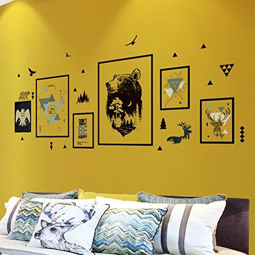 HCCY muurdecoratie, zelfklevend, behang voor woonkamer, ideeën kun je de Scandinavische wind verwijderen, 15 x 62 cm