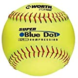 Worth 12' Super Blue Dot Softballs from 1 Dozen