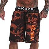 Yakuza Bañador para hombre Muerte Skull V02 Flex, naranja, XXL