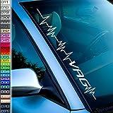 1A Style Sticker Lebenslinie Kompatibel mit VAG Frontscheibenaufkleber Herzschlag Auto-Aufkleber i Love My car