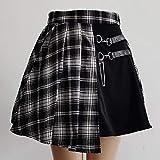 Kilt Ecossais Jupe Gothique Doux Femmes Jupe Plissée De Mode À Carreaux Mini Taille Haute Jupe...