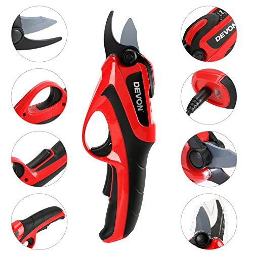 KOMOK Cordless Electric Pruning Shears, Rechargeable Battery,Powered Tree...