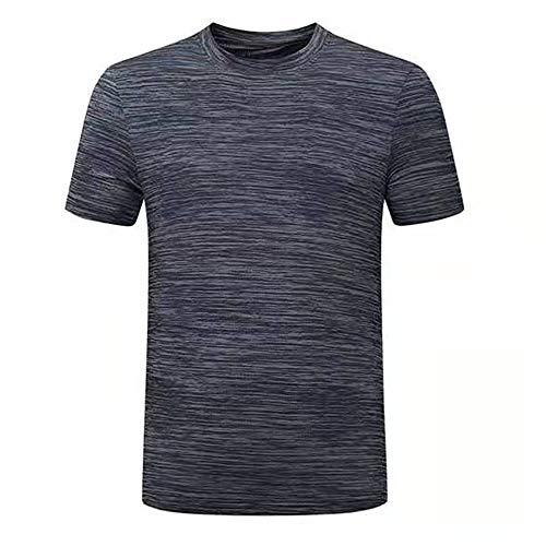 Maglia Compressione da Uomo Maglia a Manica Corta Sports Fitness Shirt Asciugatura Rapida T-Shirt per Corsa Ciclismo Fitness