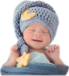 Fashion Newborn Boy Girl Baby Costume Knitted Photography Props Cute Hat Headdress