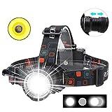 Boruit RJ-2166 1000 Lumens T6 LED Headlamp with White Light,3 Modes Zoomable...